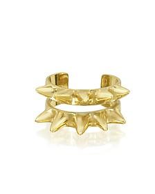 Double Band Bronze Ring w/Spikes - Bernard Delettrez