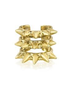 Triple Band Bronze Ring w/Spikes - Bernard Delettrez