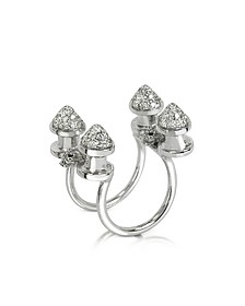 Four Studs with Diamonds Ring - Bernard Delettrez