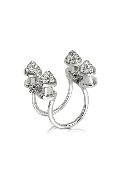 Four Studs with Diamonds Ring - Bernard Delettrez