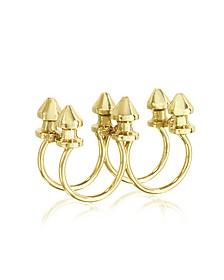 Six Studs Bronze Ring