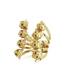 Golden Skulls Bronze Ring - Bernard Delettrez