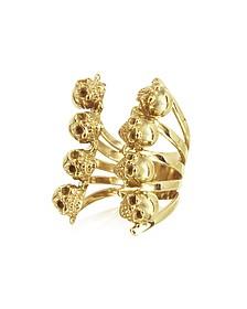 Ring aus Bronze mit Totenköpfen - Bernard Delettrez