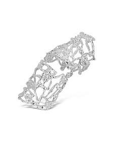 Skeletons Silver Metal Articulated Ring - Bernard Delettrez