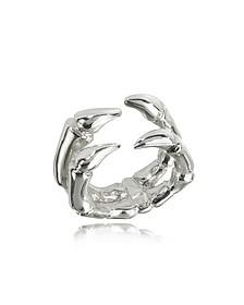 Silberner Ring mit Keramikbeschichtung - Bernard Delettrez