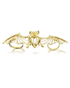 Bronze 2 Fingers Cated Bat Ring