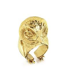 Bronze Big Owl Ring