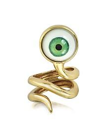 Bague serpent en bronze - Bernard Delettrez
