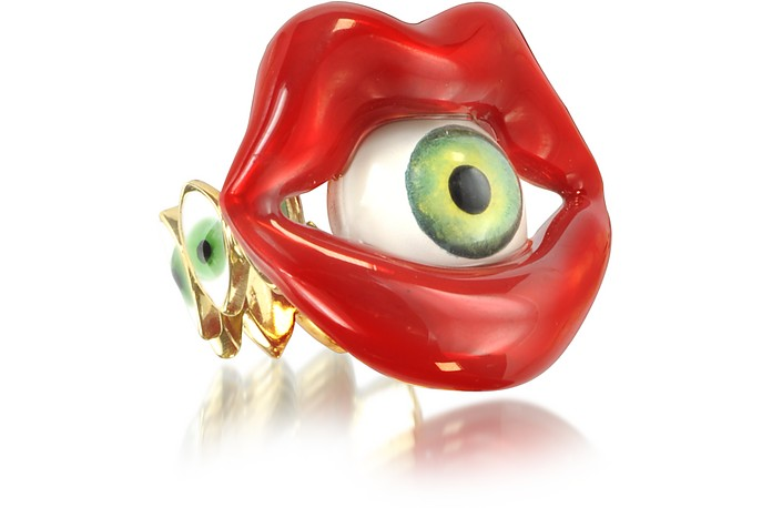 Bronze Mouth Ring with Eye - Bernard Delettrez