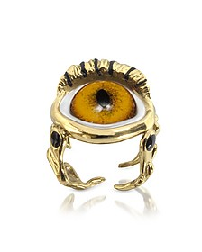 Eye Ring aus Bronze - Bernard Delettrez