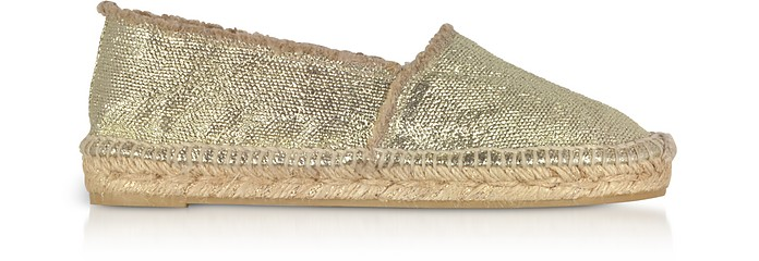 Kito Espadrilles aus Canvas in gold metallic - Castaner
