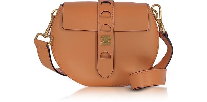 Coccinelle Carousel Mini Cuoio Leather Crossbody Bag at FORZIERI 4f1ec5bedbae5
