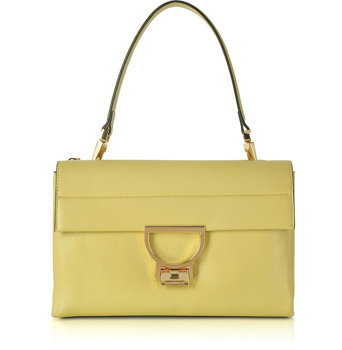 b5ad5670e6d3 Coccinelle Banane Pebbled Leather Arlettis Shoulder Bag at FORZIERI