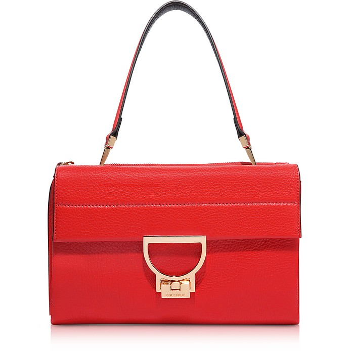 Coquelicot Pebbled Leather Arlettis Shoulder Bag - Coccinelle