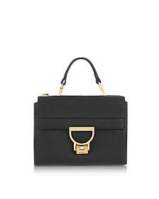 Black Pebbled Leather Arlettis Mini Bag w/Shoulder Strap - Coccinelle