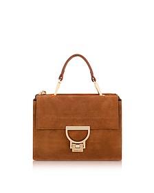 Brule Suede Arlettis Mini Bag w/Shoulder Strap - Coccinelle