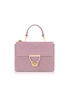 Mauve Suede Arlettis Mini Bag w/Shoulder Strap - Coccinelle