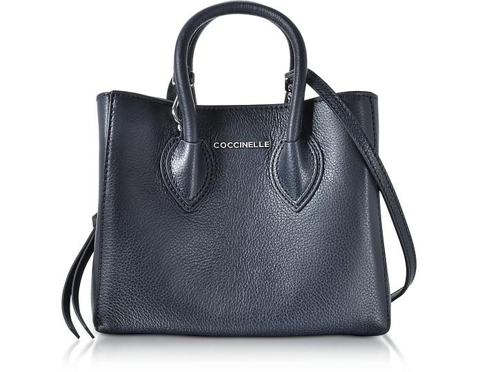 Farisa Blue Pebbled Leather Mini Tote Bag - Coccinelle