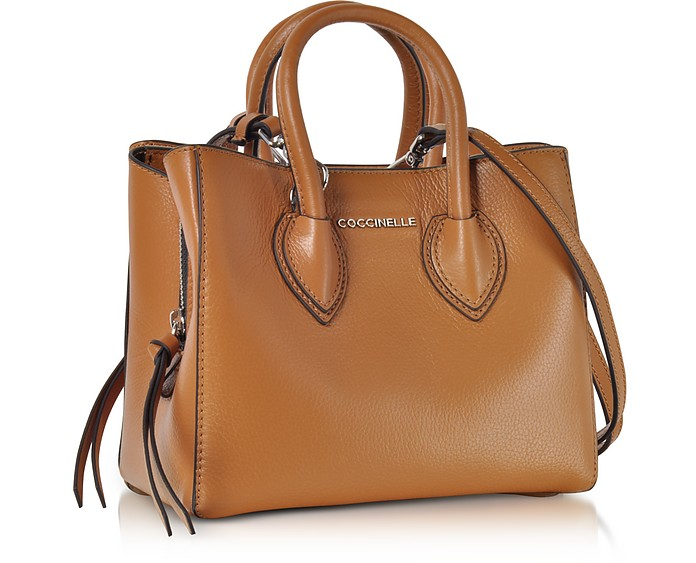 performance sportswear super quality brand new Farisa Brown Pebbled Leather Mini Tote Bag
