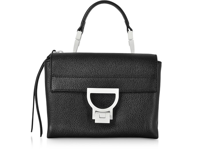 Arlettis Sporty Black Leather Shoulder Bag - Coccinelle