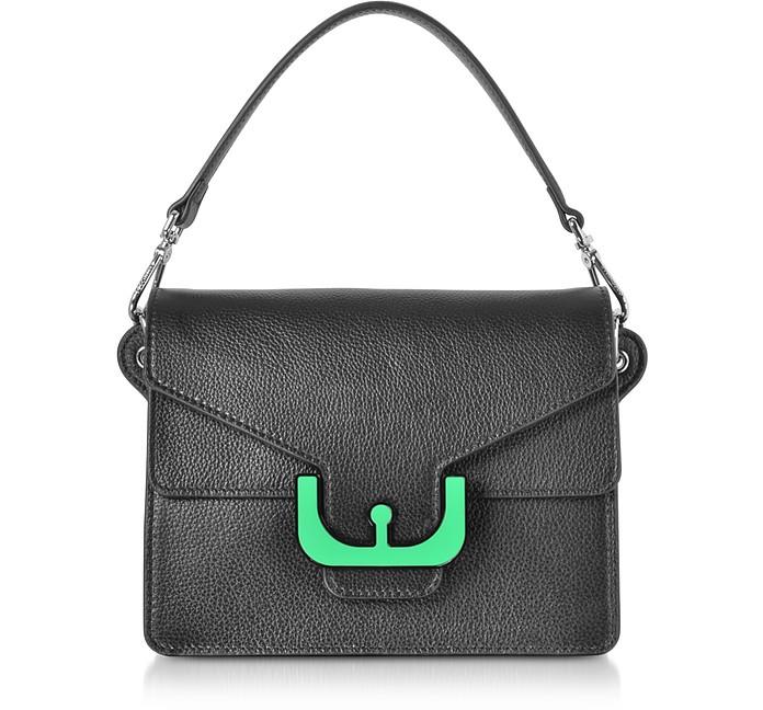 Ambrine Graphic Leather Crossbody Bag w/Canvas Strap - Coccinelle / コチネッレ