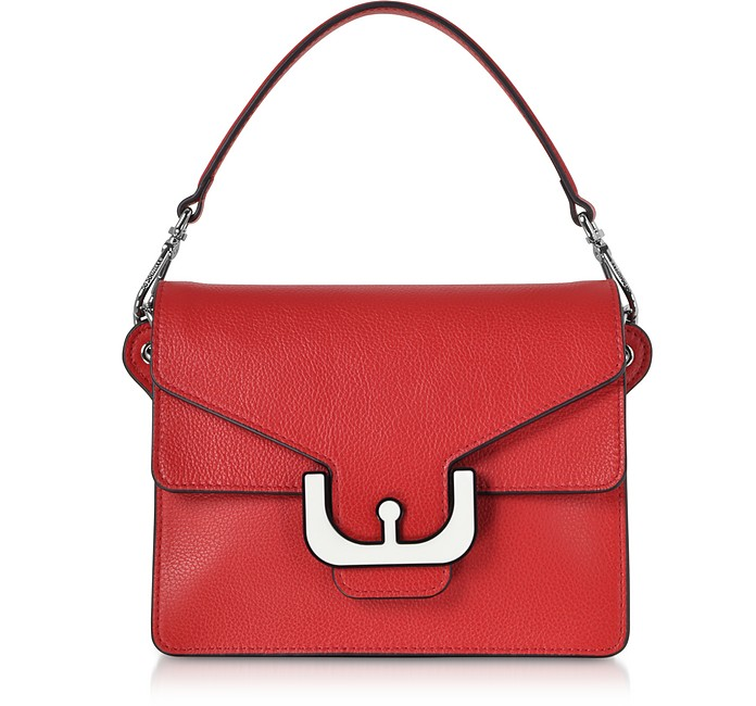 Ambrine Graphic Leather Crossbody Bag w/Canvas Strap - Coccinelle 阔琪涅勒