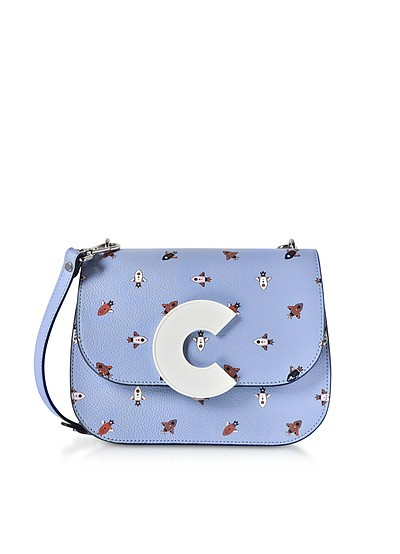 Craquante Razzo Printed Leather Shoulder Bag - Coccinelle