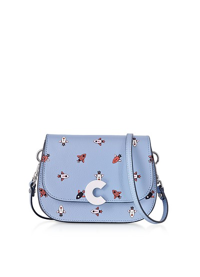 Craquante Razzo Printed Leather Small Shoulder Bag - Coccinelle