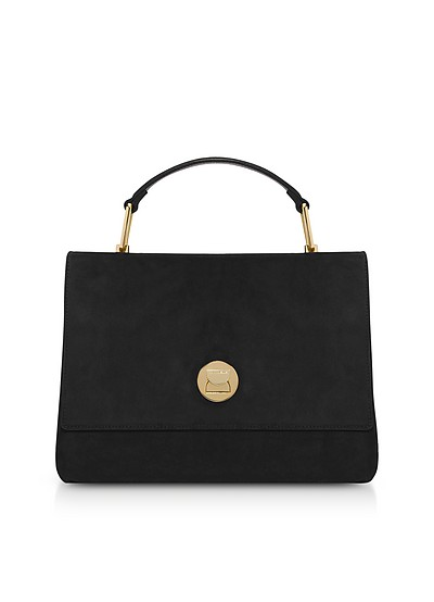 Liya Medium Suede Satchel Bag - Coccinelle