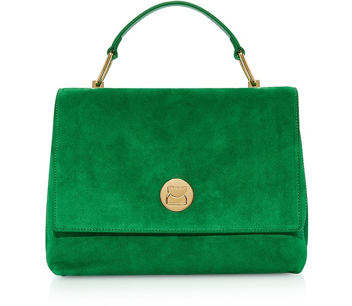 Liya Medium Suede Satchel Bag - Coccinelle