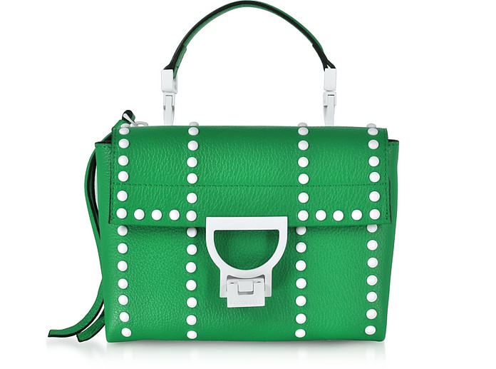 Arlettis Special Studs Leather Shoulder Bag - Coccinelle