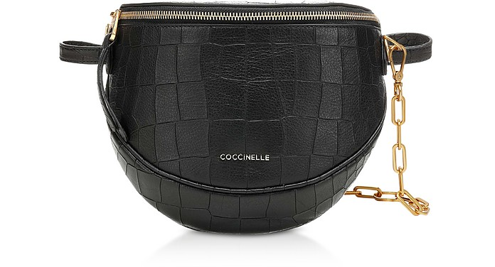 Blackie Croco Soft Convertible Shoulder/Belt Bag - Coccinelle