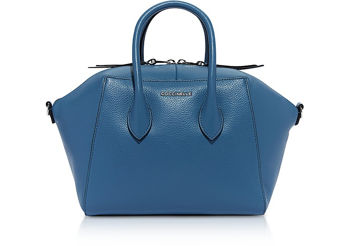 Gwen Medium Leather Satchel Bag - Coccinelle