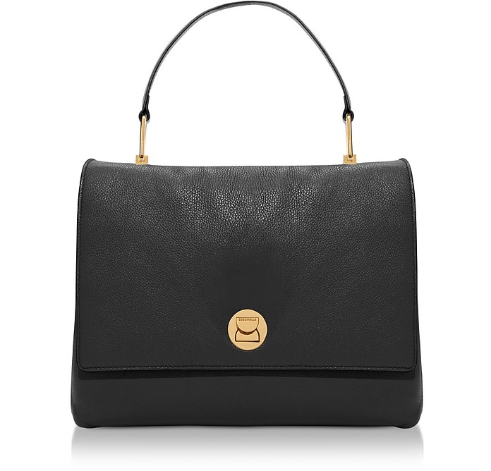Grainy Leather Large Liya Satchel Bag - Coccinelle