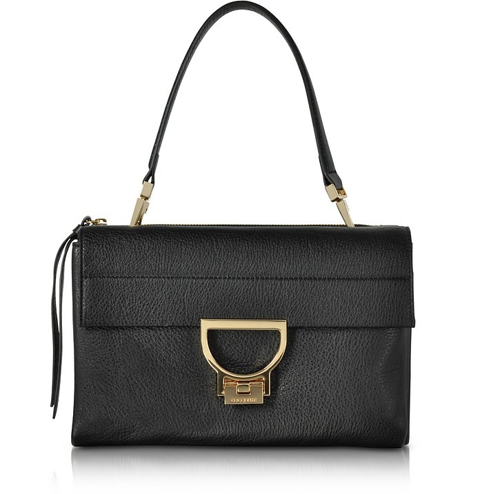 Black Pebbled Leather Arlettis Shoulder Bag - Coccinelle