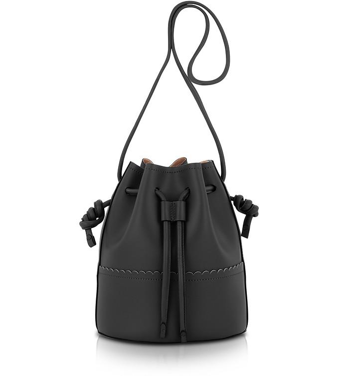 c063c69806235 Coccinelle Black Matilde Medium Leather Bucket Bag at FORZIERI Canada