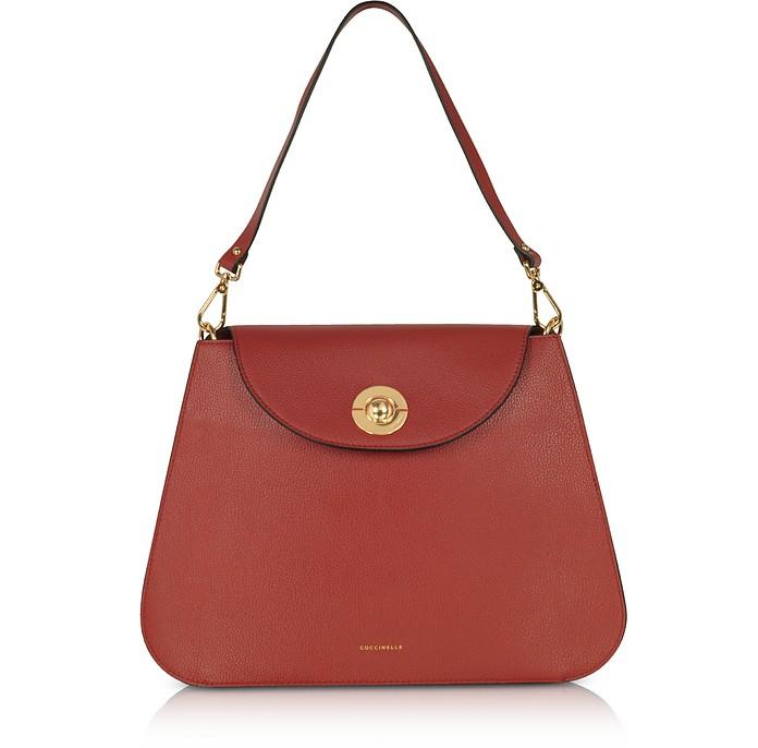 Jalouse Leather Shoulder Bag - Coccinelle