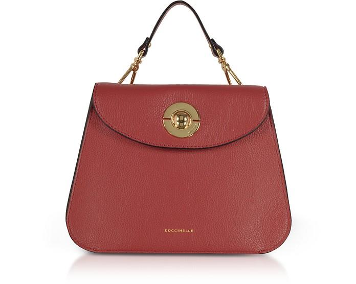 Jalouse Leather Flat Shoulder Bag - Coccinelle / コチネッレ