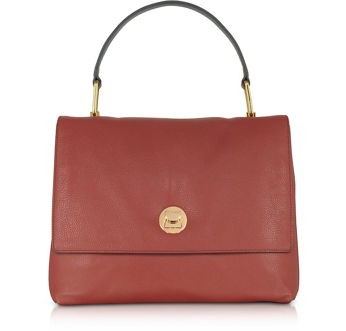 Liya Large Genuine Leather Satchel Bag - Coccinelle