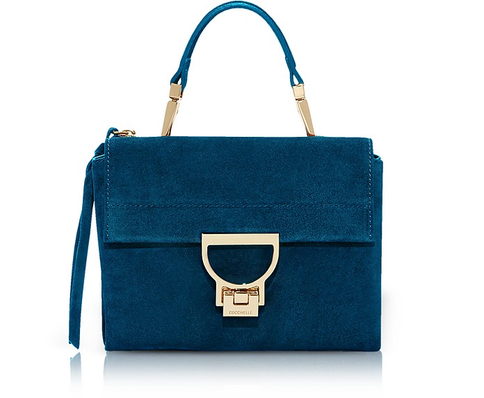 Arlettis Mini Suede Bag with Shoulder Strap - Coccinelle
