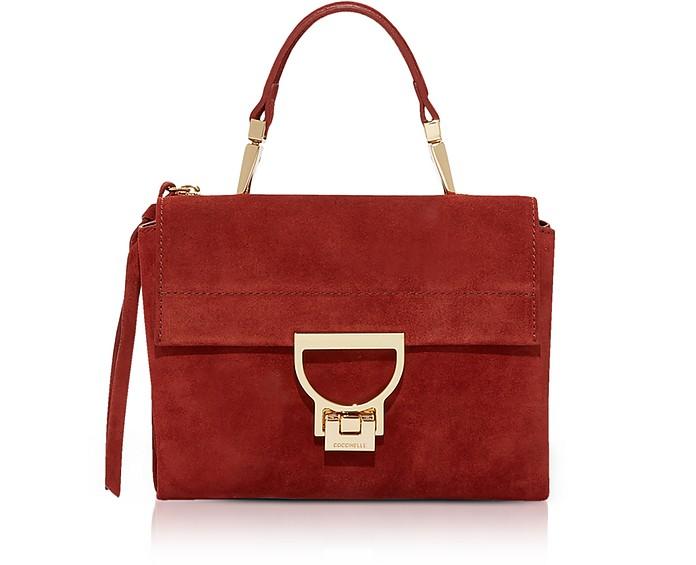 Arlettis Mini Suede Bag with Shoulder Strap - Coccinelle
