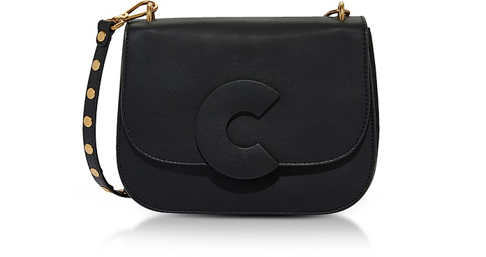 Craquante Rock Medium Shoulder Bag w/Studded Shoulder Strap - Coccinelle