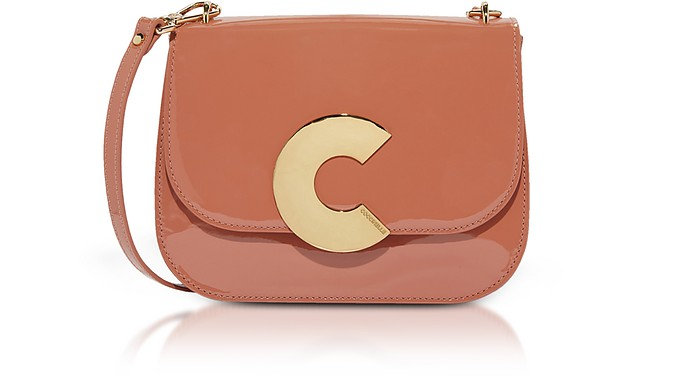 Craquante Rock Small Patent Leather Shoulder Bag - Coccinelle
