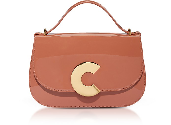 Craquante Patent Maxi Leather Satchel Bag - Coccinelle / コチネッレ
