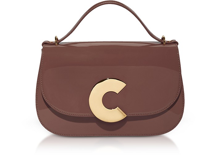 Craquante Rock Patent Leather Satchel Bag - Coccinelle