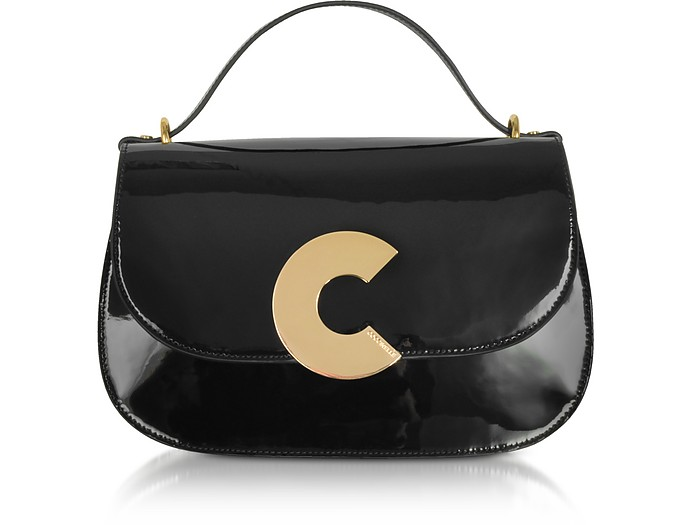 Craquante Patent Maxi Leather Satchel Bag - Coccinelle