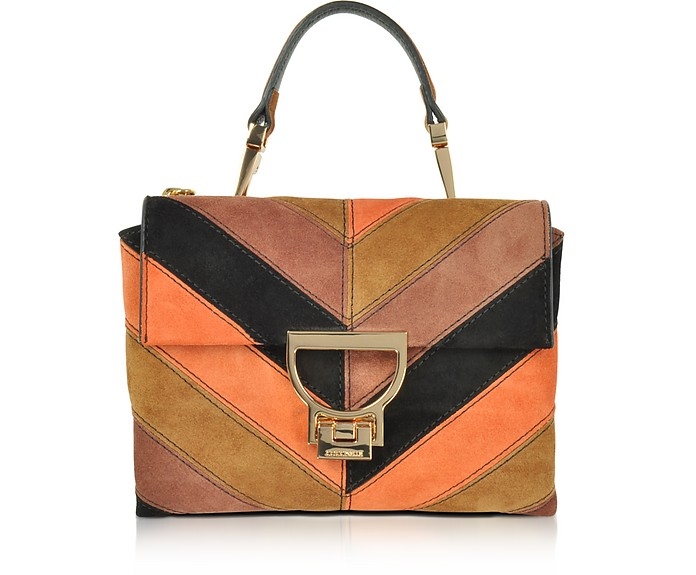 52dfdd73b1d4 Coccinelle Arlettis Chevron Color Block Suede Mini Shoulder Bag at ...
