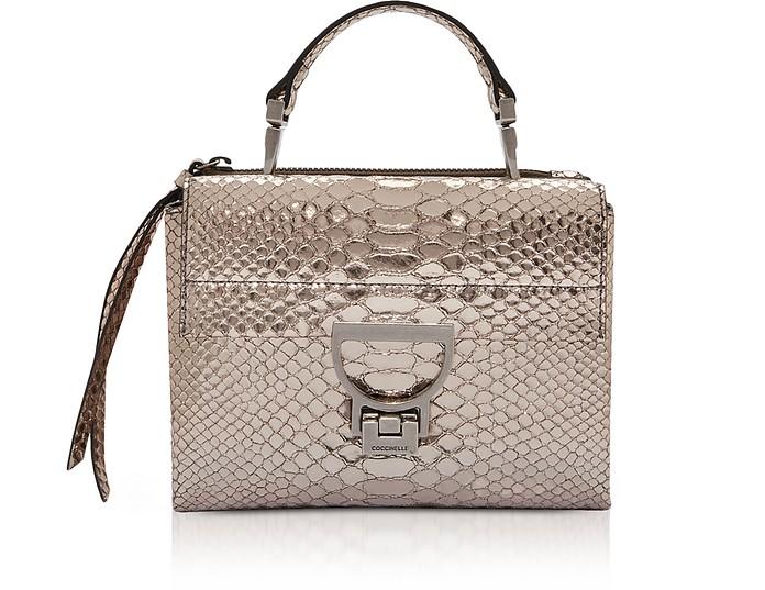 Arlettis Metallic Python Leather Mini Bag w/Shoulder Strap - Coccinelle