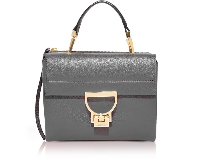 Arlettis Grained Leather Mini Bag w/Shoulder Strap - Coccinelle