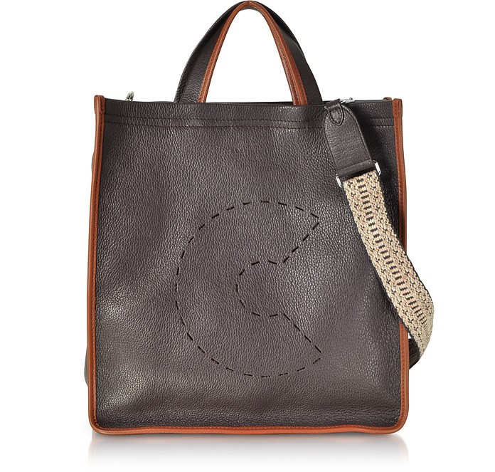 C Bag Grained Leather Tote - Coccinelle